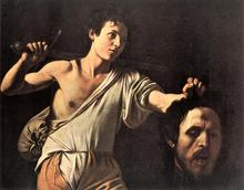 100 %hand-painted famous artists painting reproduction by Caravaggio handmade canvas oil painting David