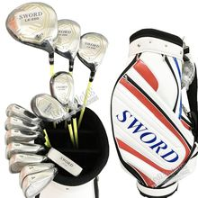 Cooyute New Golf clubs SWORD LX-880 Compelete club set Driver+wood+irons+Hybrid wood+putter+bag Graphite shaftFree shipping(China)