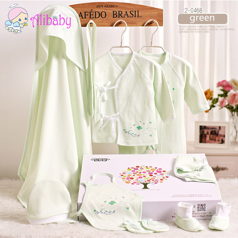 New 2015 100% Organic Cotton newborn baby clothing sets 9pcs infants suit baby girls boys clothes<br><br>Aliexpress
