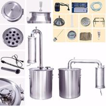 New Stainless 20L-150L Litres Home Water Distiller Oil Alcohol White Spirit Moonshine Still For Essential Oil Pure Dew Brew Kits(China)