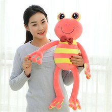 1XCartoon Prince Frog Long Legs Frog Plush Sweet Tiny Toy Doll For Children Kids Baby(China)