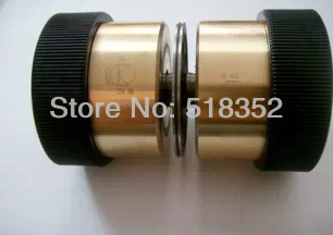 Guangming 007 Guide Wheel Assembly with Brass Sleeve/ Seat and NMB 625 Bearings dia.50xL80mm for Ningbo Fumao Wire Cut EDM Parts<br>