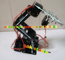 Oak Studio:6 DOF Robot Arm +Mechanical Claw+6PCS High torque servos +large metal base,Rectangle Chassis, for Curriculum Project