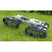 Alloy Metal Tank Chassis Tractor Crawler Balance Tank Chassis RC Tank Mount Truck Robot Chassis Arduino Car(China)