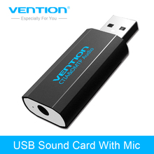 Vention USB External Sound Card USB to Aux Jack 3.5mm Headphone Adapter With Mic for PS4 Computer Laptop microphone sound card(China)