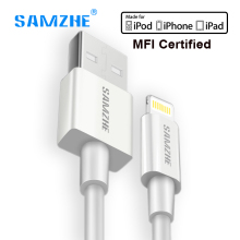 SAMZHE for iphone Cable MFI Certified Lightning cable For iPhone 7 5S SE 6 6s plus iPad fast charging Data usb Cable 1m 1.5m(China)