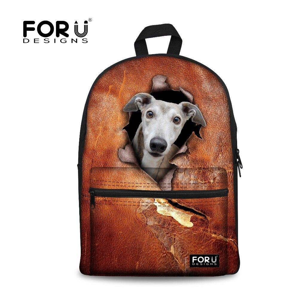 FORUDESIGNS New 3D Animal Printing School Backpack Cute Dog Book Bag Childrens for Kindergarten Girls Baby Bags Sac Mochila<br><br>Aliexpress