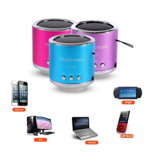 Handfree Wired Portable Loudsperker Mini Speaker Subwoofer FM Radio Support USB Disk Micro SD TF Card MP3 Player