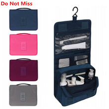 Do Not Miss Women Travel Cosmetic Bags Hanging Wash Bag Makeup Daily Supplies Hanging Toilet Organizer Bag Portable Make up Bags(China)