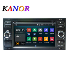 Android 7.1 Quad core RAM 2G Car DVD GPS Radio stereo For Ford Mondeo S-max Focus C-MAX Galaxy Fiesta Form Fusion Connect PC(China)