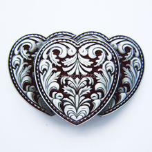 Distribute Belt Buckle Red Western Triple Hearts Belt Buckle Free Shipping 6pcs Per Lot Mix Style is Ok