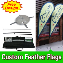 Free Design Free Shipping Double Sided Cross Base Teardrop Flags Banners Flag Signs Advertising Ad Flags(China)