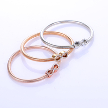 3PCS/SETS !!! Fashion Charm Bracelets Bangles Jewelry Gold/Silver Plated Chain Bracelet With Bow Design For Women Girl