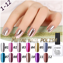 12 Colors Gel Nail Polish Metal Series UV Lamp Soak Off Glitter Gel Polish 10ML DIY Beauty Art Nail Polish Gelpolish