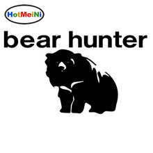 HotMeiNi Wholesale 50pcs/lot Bear and Hunter Car Sticker for Bumper SUV Auto Door Animal Look for Graphics Vinyl Decal 10 Colors