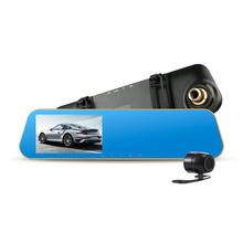 Full HD 1080P Car Rearview Mirror Camera Dvr  HD Digital Video Recorder With Two Cameras Auto Dash Cam Black Box