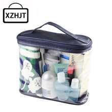 Transparent Travel Cosmetic Bag Zipper Clear Make Up Bag Functional Makeup Case Organizer Storage Pouch Toiletry Wash