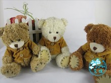wholesale 15CM mini teddy bear plush toy  Christmas gifts 12pcs/lot High quality 3 colors