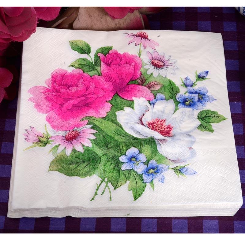 4 papel de Almuerzo Servilletas Para Decoupage Craft Vintage Servilleta belleza rosas y aves