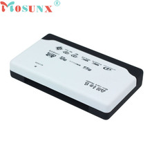 Mosunx Advanced U disk Top Department  USB 2.0 Card Reader for SD XD MMC MS CF SDHC TF Micro SD M2 Adapter 1PC