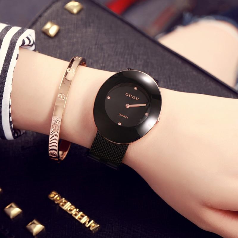 New Fashion Simple Style Women Watch Casual Steel Mesh Quartz Wristwatch Ladies Analog Women Watches Relogio Feminino <br>