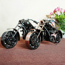 Fashion Kids Vehicle Toys Jumbo Metal Motorcycle Model Toy for Shop decoration(China)