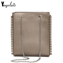 Fashion Women Solid Colr Flap Hasp Closer Chain Women Shoulder Bags Leather Handbag Soft Crossbody Fashion Tote Women bolsa(China)