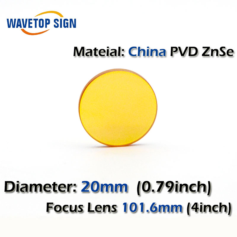 Better Quality Laser Wood Cutter Machine Optical Pickup Lens Diameter 20mm Focal Length 101.6mm ZnSe Lenses<br>