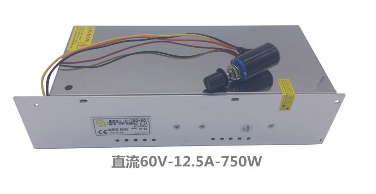 750w 60VDC 12.5A adjustable switch power supply for motor <br>