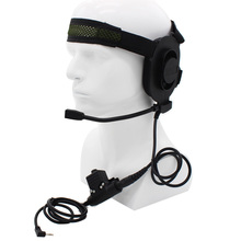 XQF HD01 Z Tactical Bowman Elite II Headset with U94 PTT for Motorola Cobra Talkabout Two Way Radio TLKR T6 T7 T80 T5300 T6200