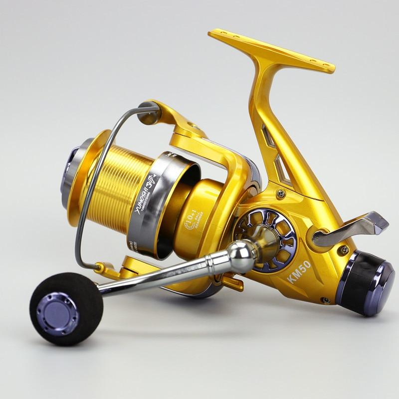 Carp Spinning Fishing Reel Front Rear Brake Wheel Drag System Infinite Metal Spinning 10+1BB Spinning Reels<br>