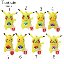 USB Flash Drive Cartoon Cute Pokemon Pikachu Shape USB Flash Drive PenDrive Memory Stick Pen Drive 4GB-128GB USB Drive