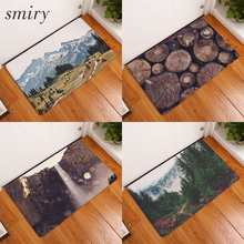 Smiry in front of entrance door mats water absorption fascinating natural scenery pattern carpets anti slip living room carpets