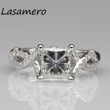 LASAMERO Ring For Women 2CT  8mm  Certified Moissanite Ring Accents 18k Gold Real  Engagement Wedding Ring
