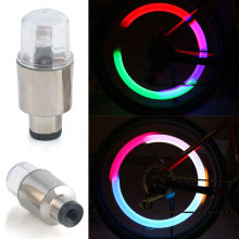2pcs Neon LED Lamp Flash Tyre Wheel Valve Cap Light Car Bike Bicycle Motorcycle Event Glow Party Supplies