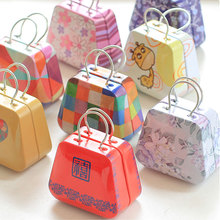 1 x Mini Handbag tin box pill case home cable organizer kawaii storage box wedding gift candy jewel container tea zakka tin boxs
