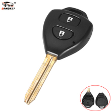 DANDKEY Brand New Uncut 2 Buttons Car Remote Key Shell Case Replacement For Toyota Corolla RAV4 Toy43 Blade(China)