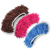 1pc Dust Mop Slipper Lazy Quick House Floor Polishing Cleaning Easy Foot Sock Shoe Design