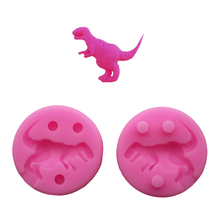3D Dinosaur mold Tyrannosaurus rex cartoon liquid silicone mold soap Fondant cake decoration biscuits clay kitchen baking tools
