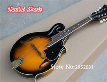 Free Shipping-Electric Guitar,8 Strings,Tobacco Sunburst Color,Black Pickguard,Mandolin Style,can be Customized