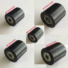 Diameter 30MM Length 30mm Black PU Material Nylon Roller With Two Bearing Bore 5mm 6mm 7mm 8mm 10mm 6pcs/lost(China)