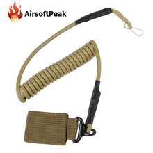 Airsoft Tactical Single Point Pistol Handgun Spring Lanyard Sling Quick Release Shooting Hunting Strap Army Combat Gear 2 Color