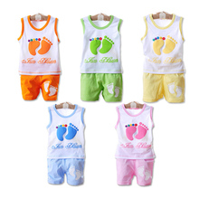 Cemigo New Baby Clothing Set Kids Foots Sets Baby Boy Casual Suits Girls Summer Sets IU116(China)