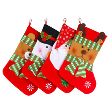 1 Piece Size 38*19CM Christmas Gift Sock Happy New Year Candy Sock Hotel Market Hang On Christmas Tree Children Gift Funny Socks(China)
