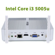 Fanless Mini PC Windows 10 Nano Station PC i3 5005u Barebone System Nuc Mini HDMI Computer Core i3 HTPC Kodi Linux Computer(China)