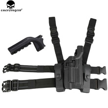 EMERSONGEAR BH style LV3 Serpa Light Bearing Holster Set Compact RH Drop Leg for Tactical Beretta M9 M92 M96 Holster BD6111C(China)