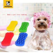 Silica Gel Dog Bath Brush Comb Cleaning Bath Massage Grooming Dog Cat Brush Shampoo Grooming Multifunction Silicone Pet Brush