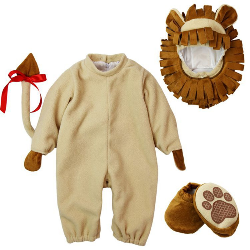 Lovely Animal Halloween Outfit for Baby grow Infant Boys Girls Baby Fancy Dress Cosplay Costume Toddler Lion<br>