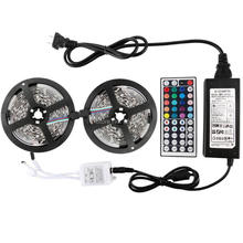 WFTCL Flexible LED strip lights Kit 5M 300LED 5050/3528 RGB LED Rope Light+Controller+Power Adaptor DIY Xmas Festival decoration