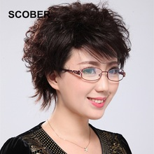Fancy Brand Design Slim Resin Lenses Reading Glasses Women Elegant Alloy Frame High-end Anti-radiation Presbyopia Eyewear.G417